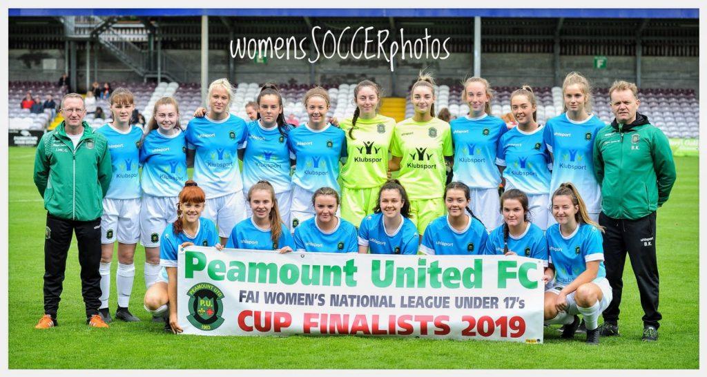 Sponsors of Peamount Utd Under 17's Ladies