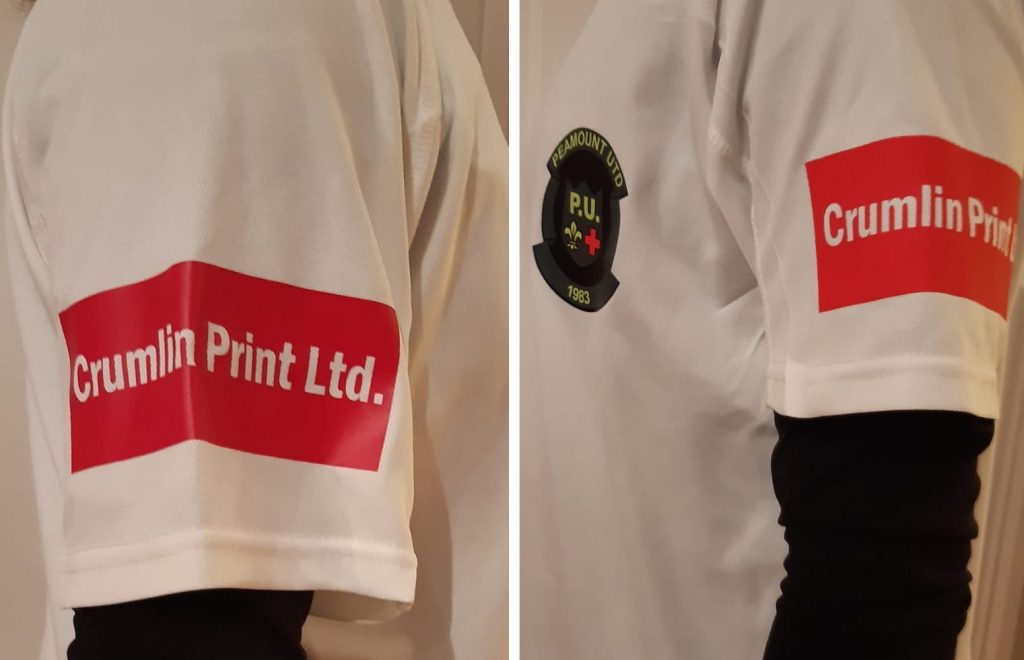 Peamount U17 Girls T-shirt Crumlin print