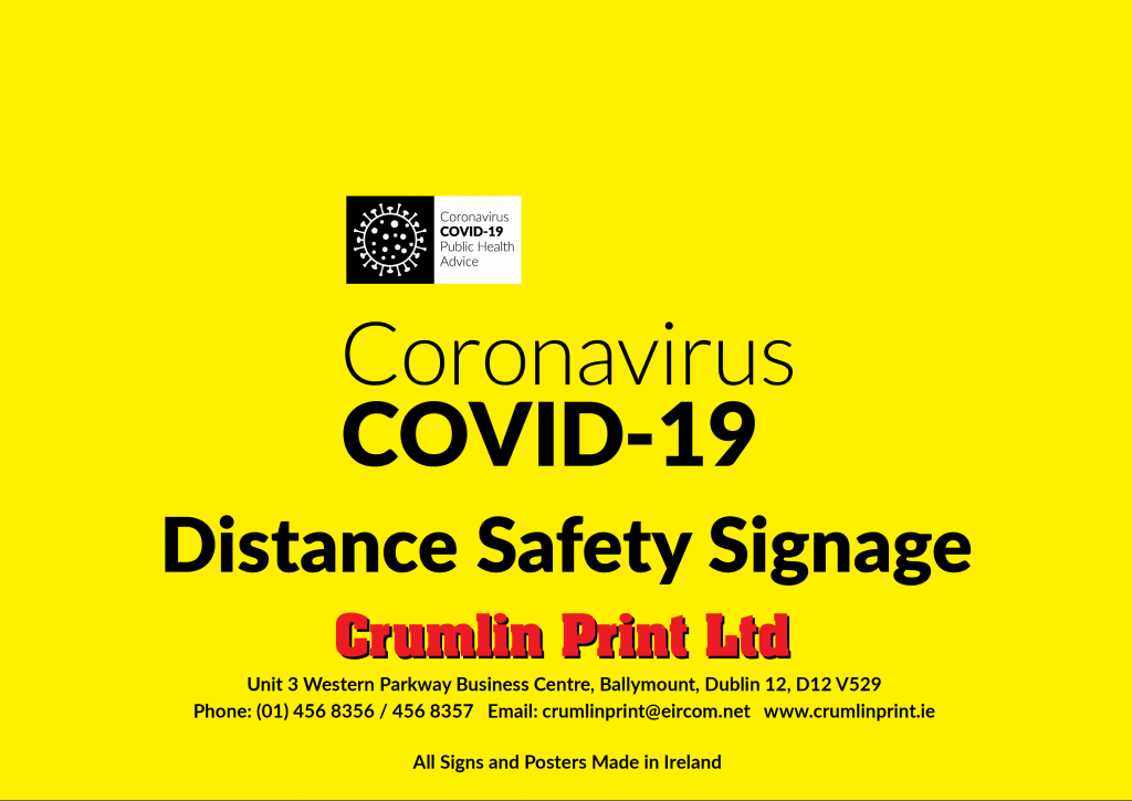 Covid 19 Distance Safety Signage